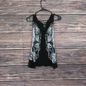 Hot Topic Skull Sleeveless Top Size Medium